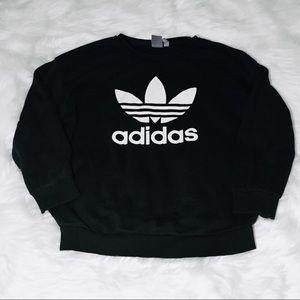 Adidas Black & White Logo Sweater!